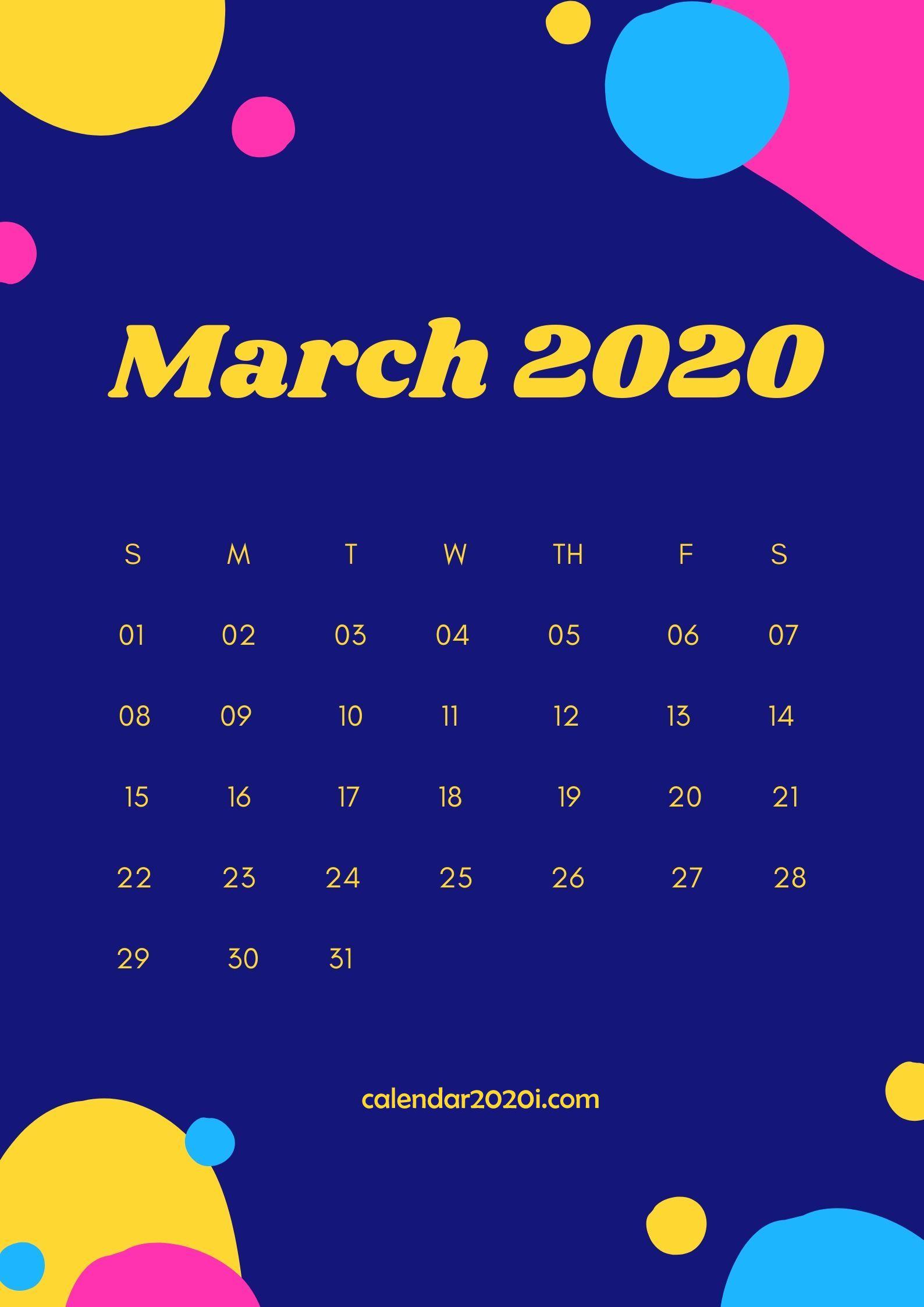 March 2020 Wall Calendar Printable