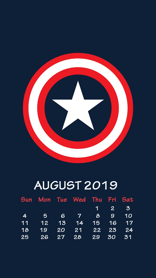 Marvel August 2019 iPhone Wallpaper