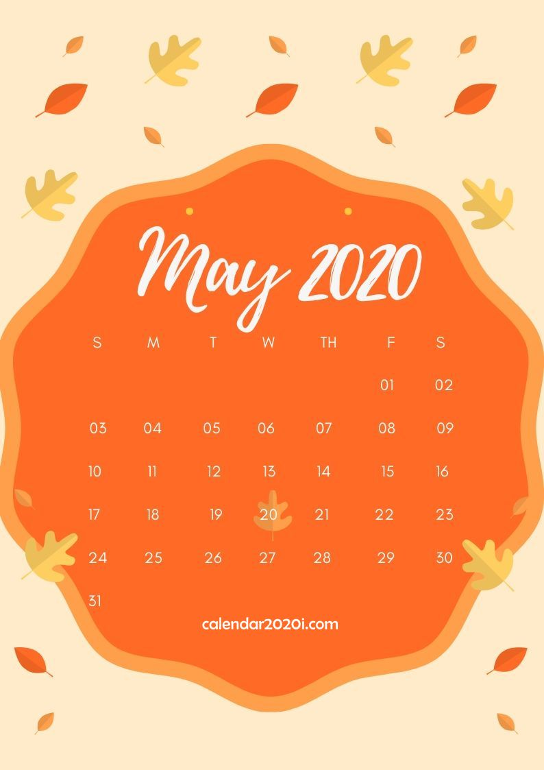 May 2020 Calendar Design