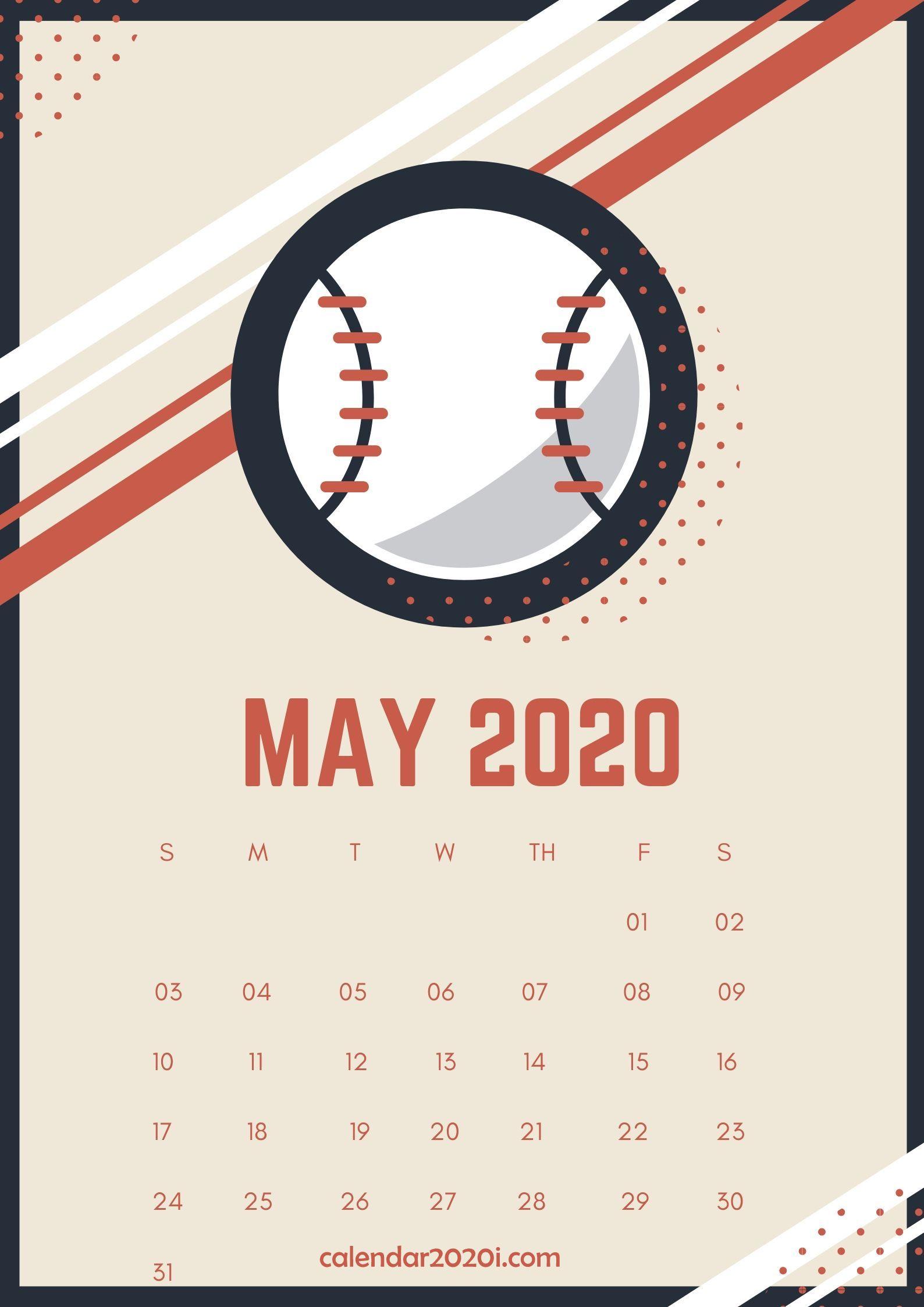 May 2020 Wall Calendar Printable