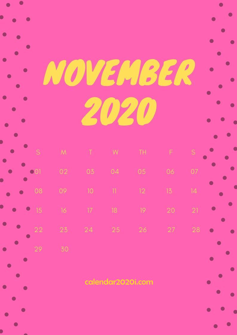 November 2020 Calendar Design