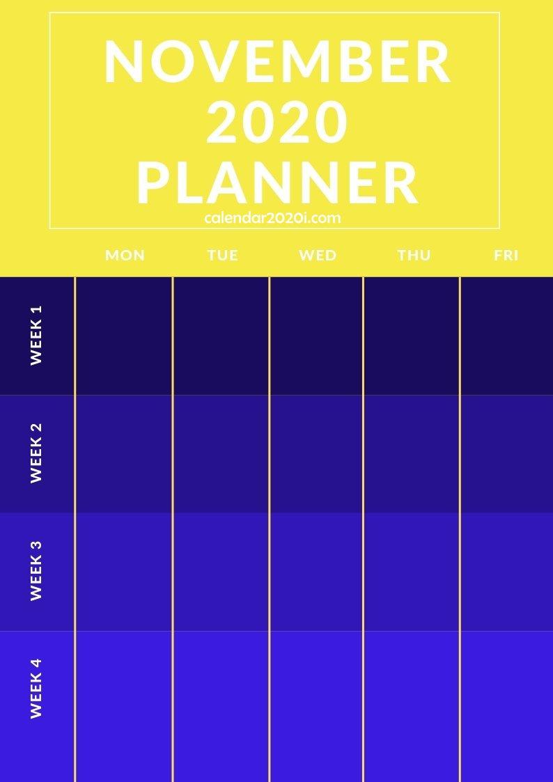 November 2020 Planner Printable