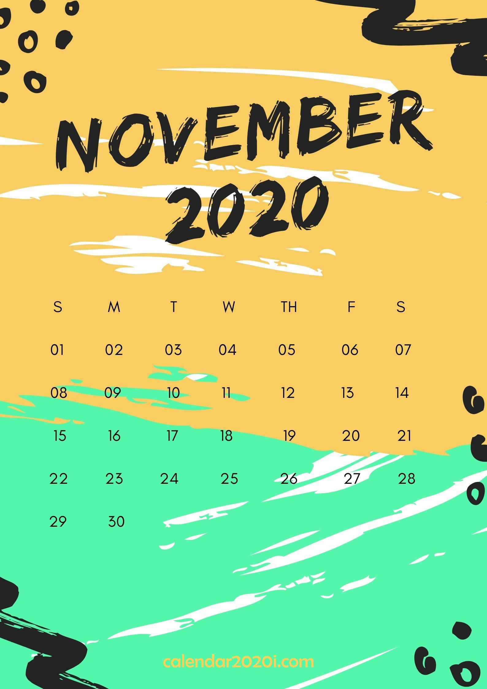 November 2020 Wall Calendar Printable
