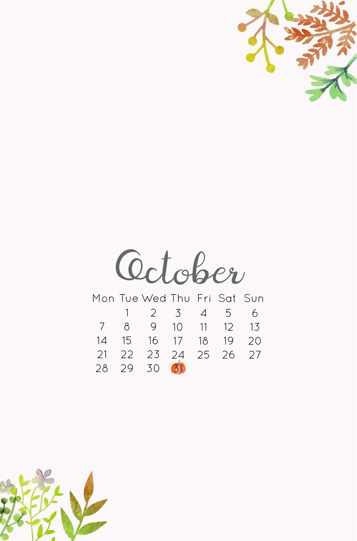 October 2019 Smartphone Wallpaper