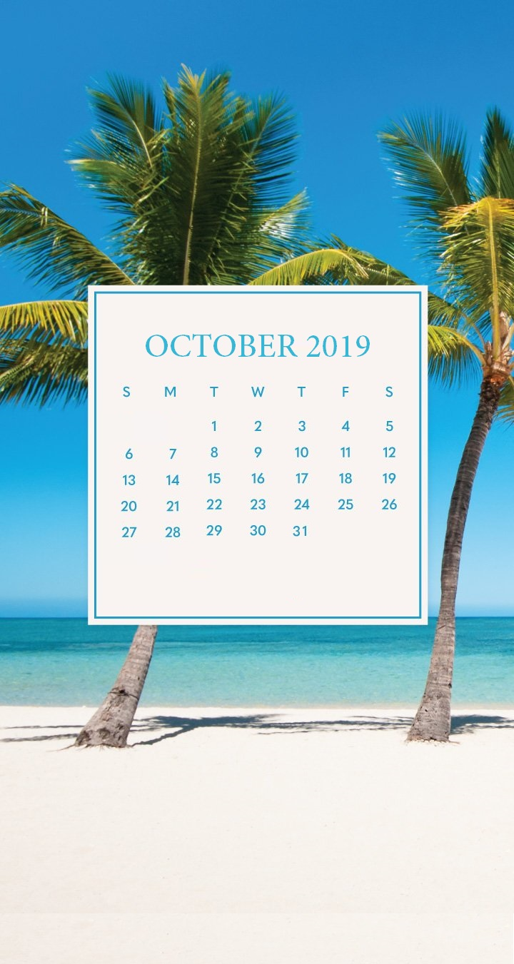 October 2019 iPhone Calendar Wallpaper