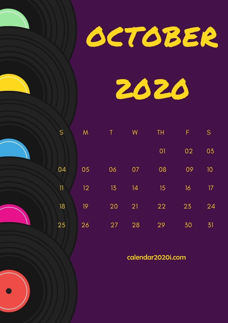 October 2020 Calendar Design