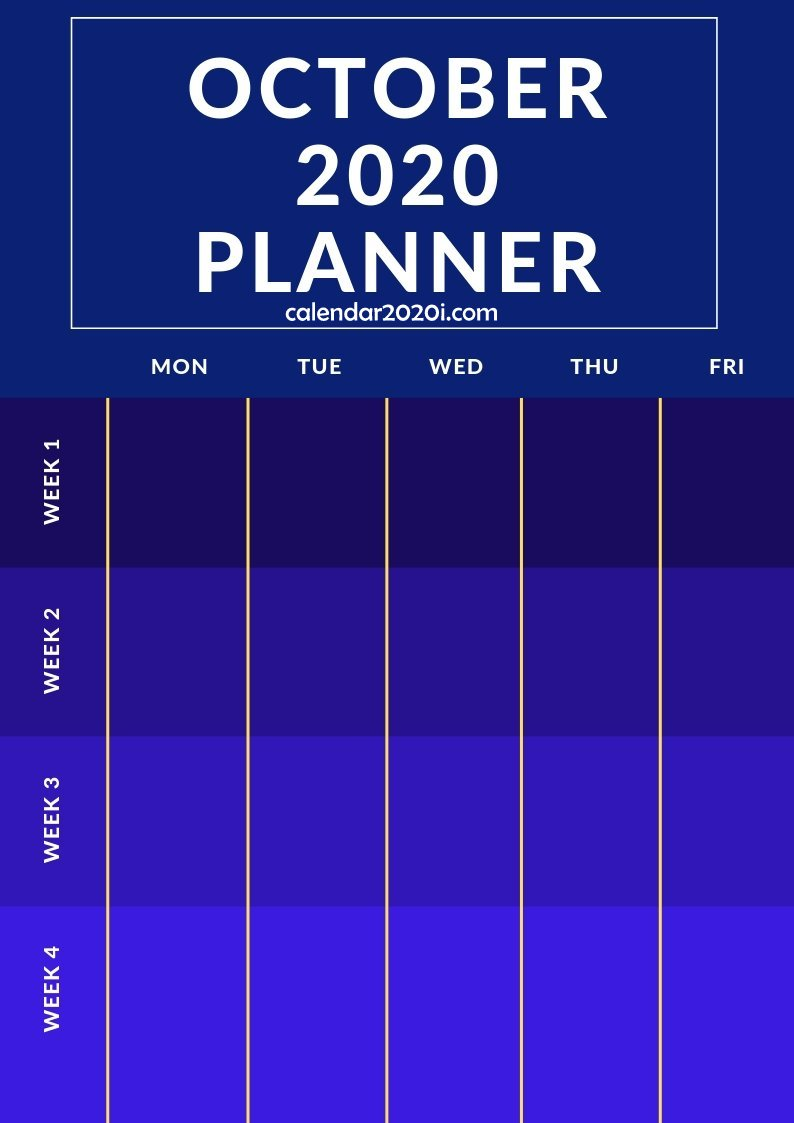 October 2020 Planner Printable