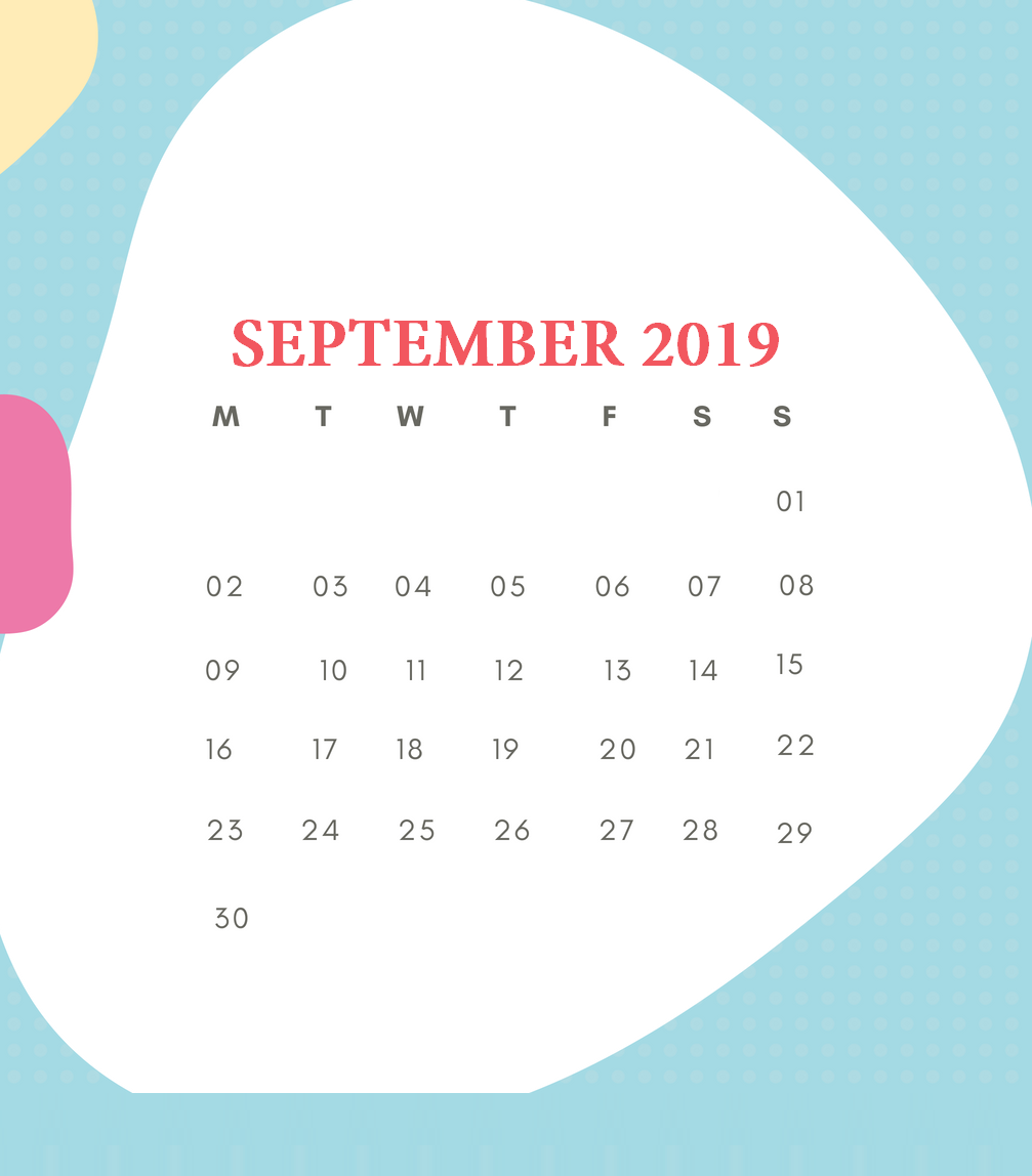 Printable September 2019 HD Calendar