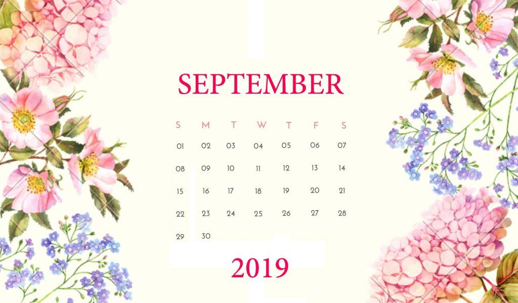 September 2019 Cute Calendar