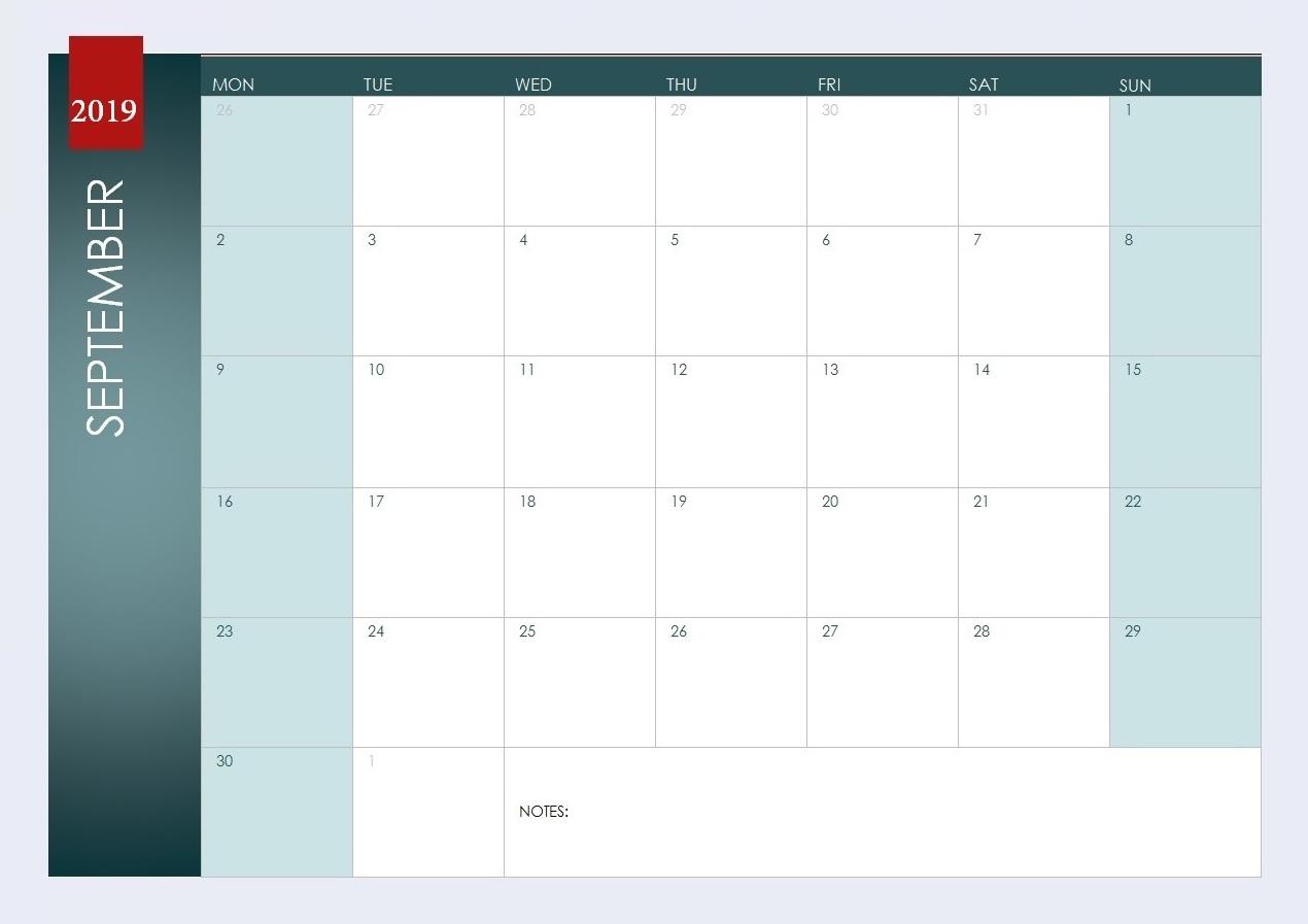 September 2019 Weekly Planner
