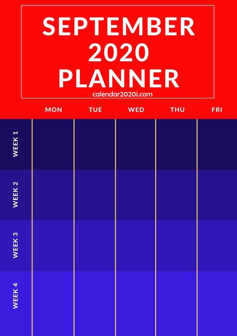 September 2020 Planner Printable