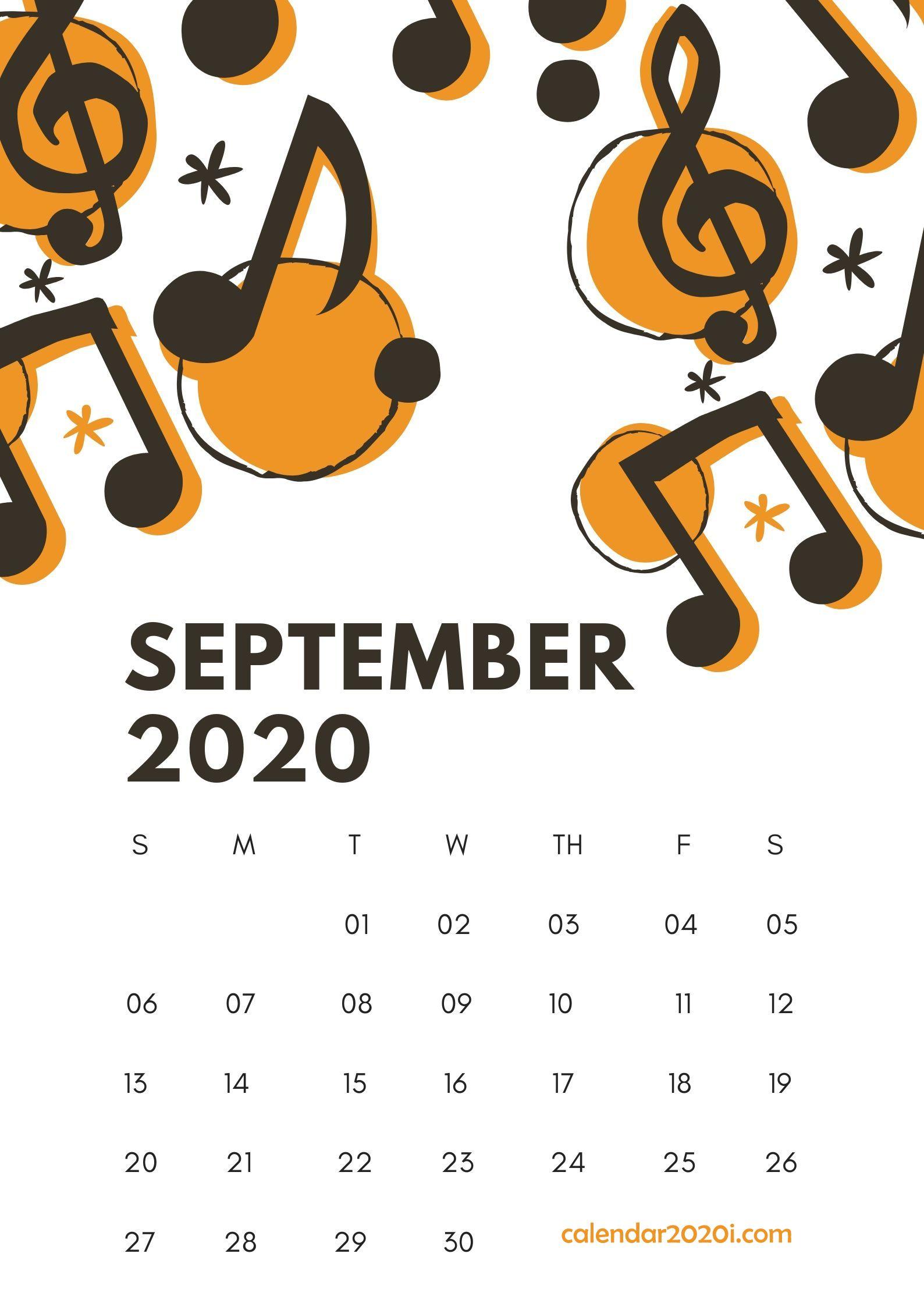 September 2020 Wall Calendar Printable