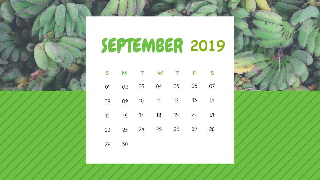 Unique September 2019 Cute Calendar