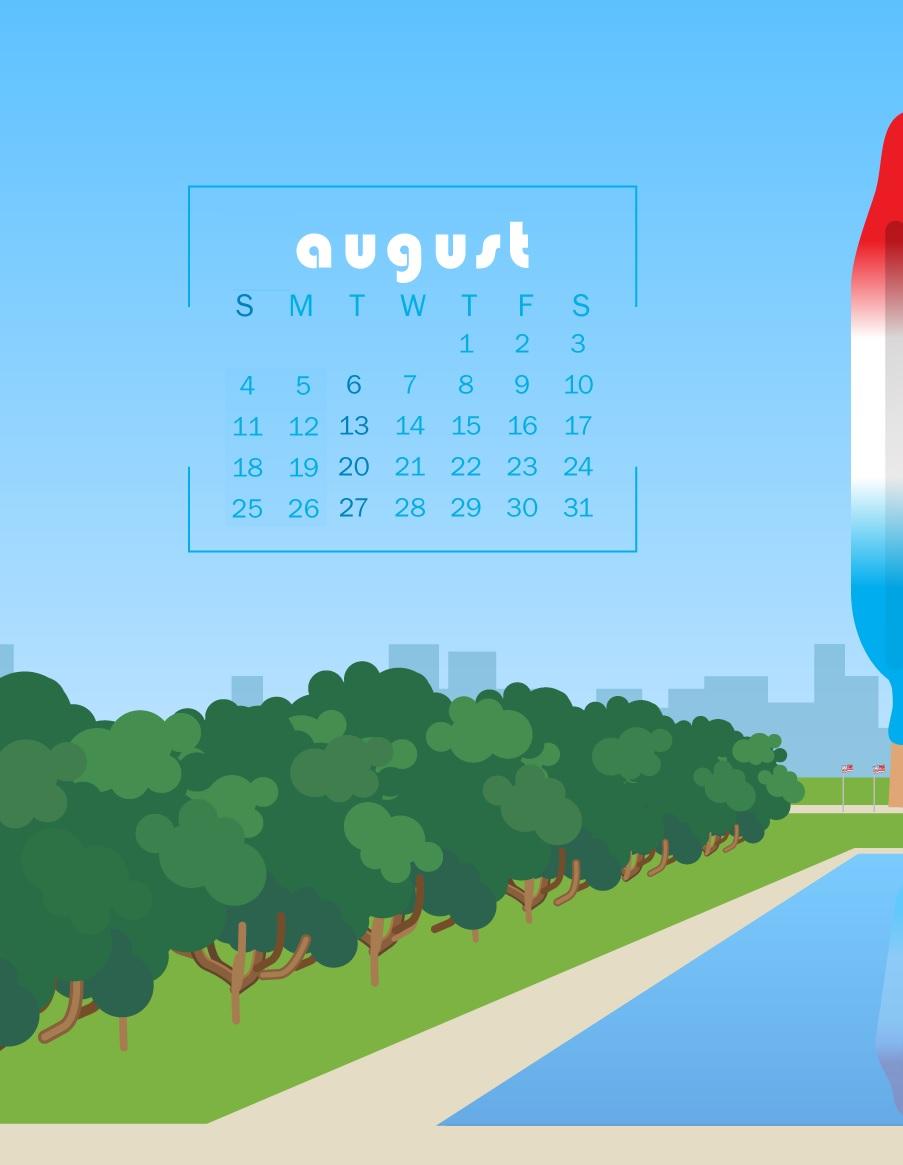 iPhone August 2019 Calendar