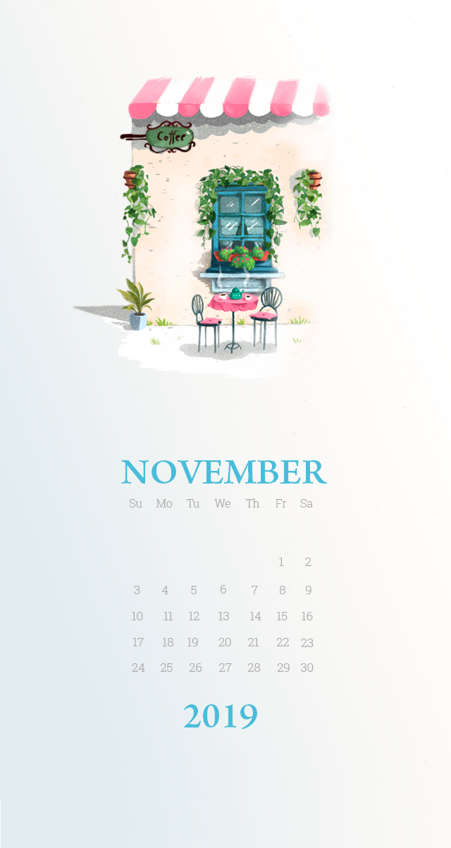 Beautiful November 2019 iPhone Wallpaper