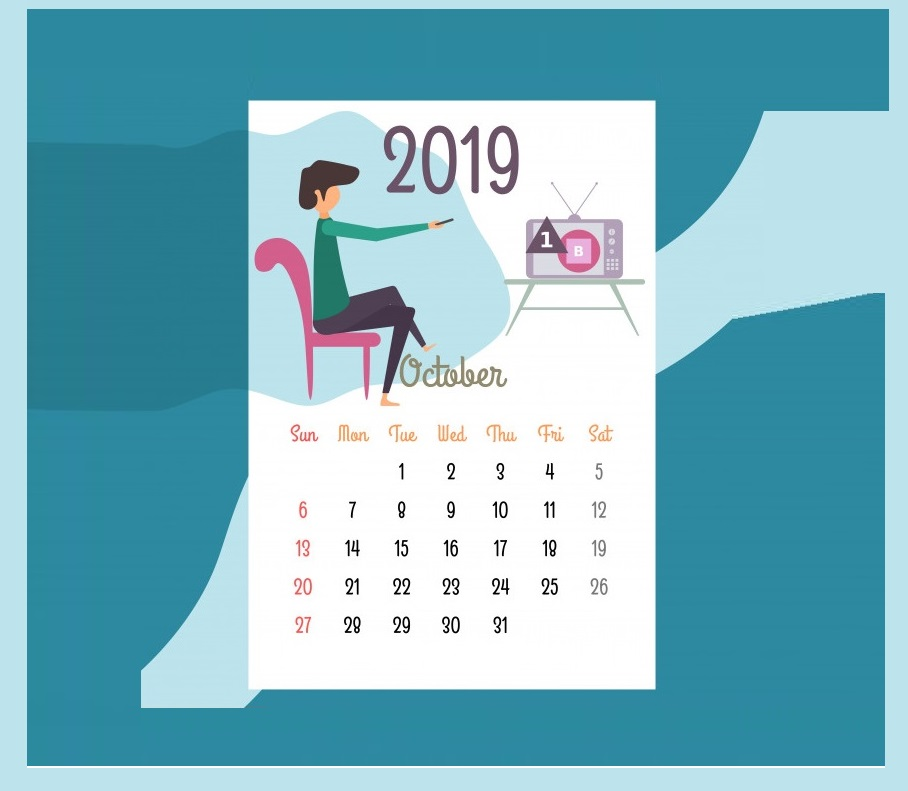 Best October 2019 Desk Calendar