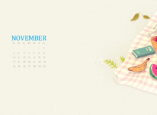 Cute November 2019 Calendar Wallpaper