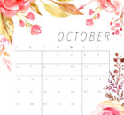 Cute October 2019 Calendar Template