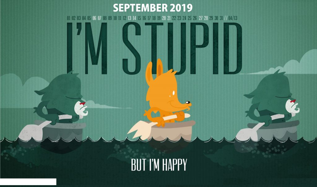 Cute September 2019 Desktop Calendar