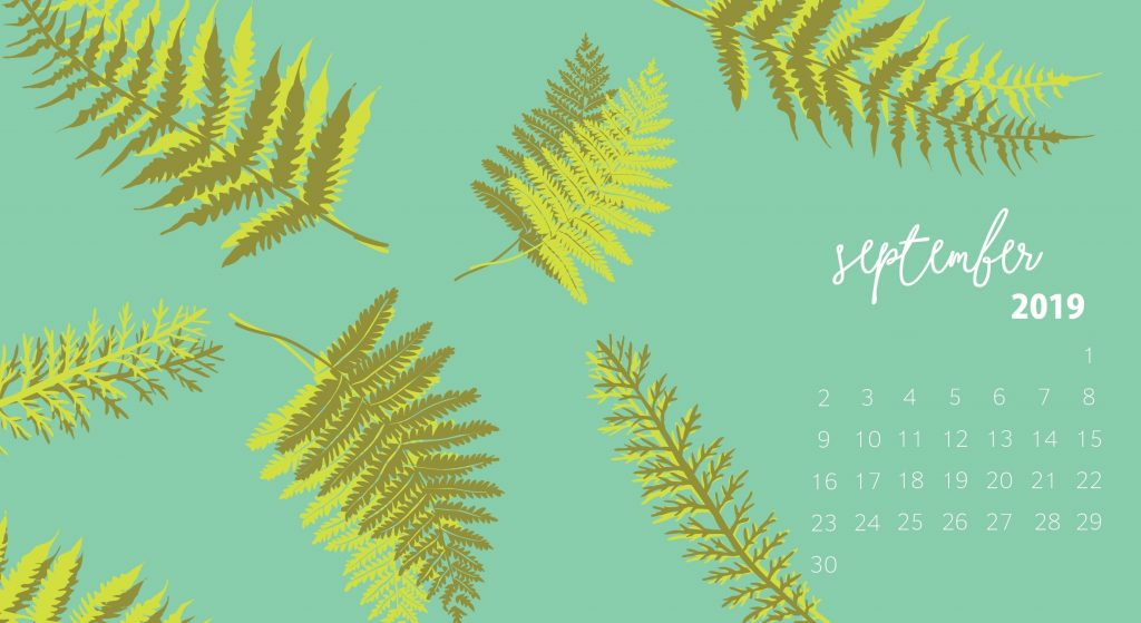 Floral September 2019 Desktop Wallpaper