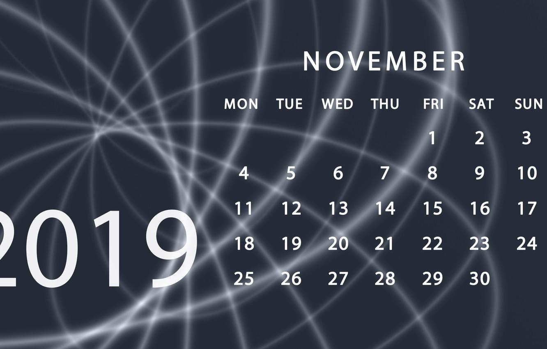 Free November 2019 Calendar Wallpaper
