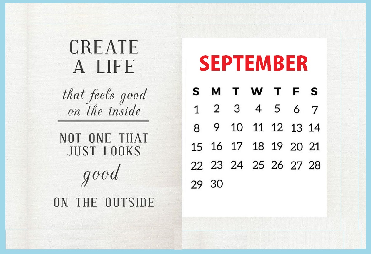 Inspiring September 2019 Quotes Calendar