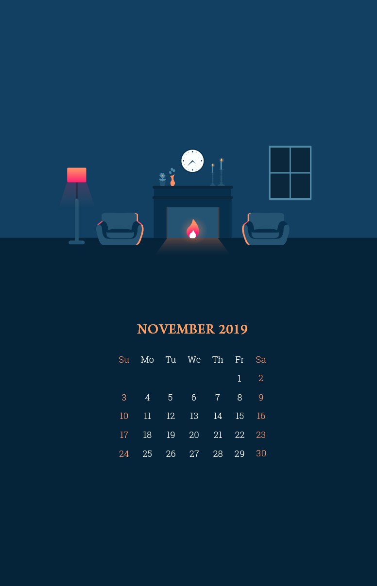 November 2019 Smartphone Wallpaper