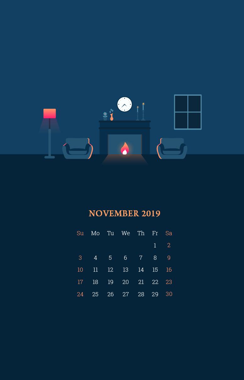 Iphone November 2019 Calendar Wallpaper