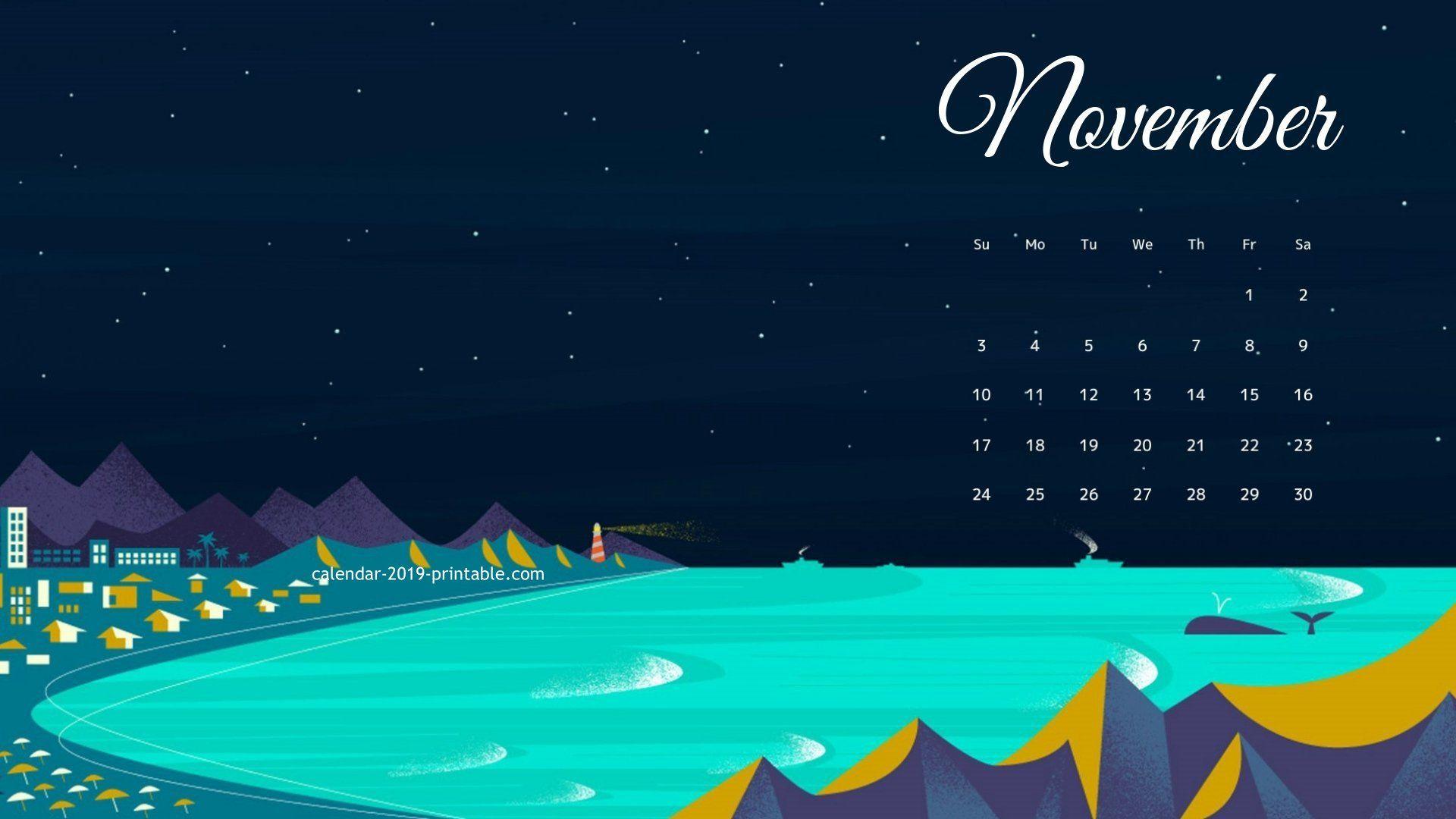 November 2019 Wallpaper Calendar