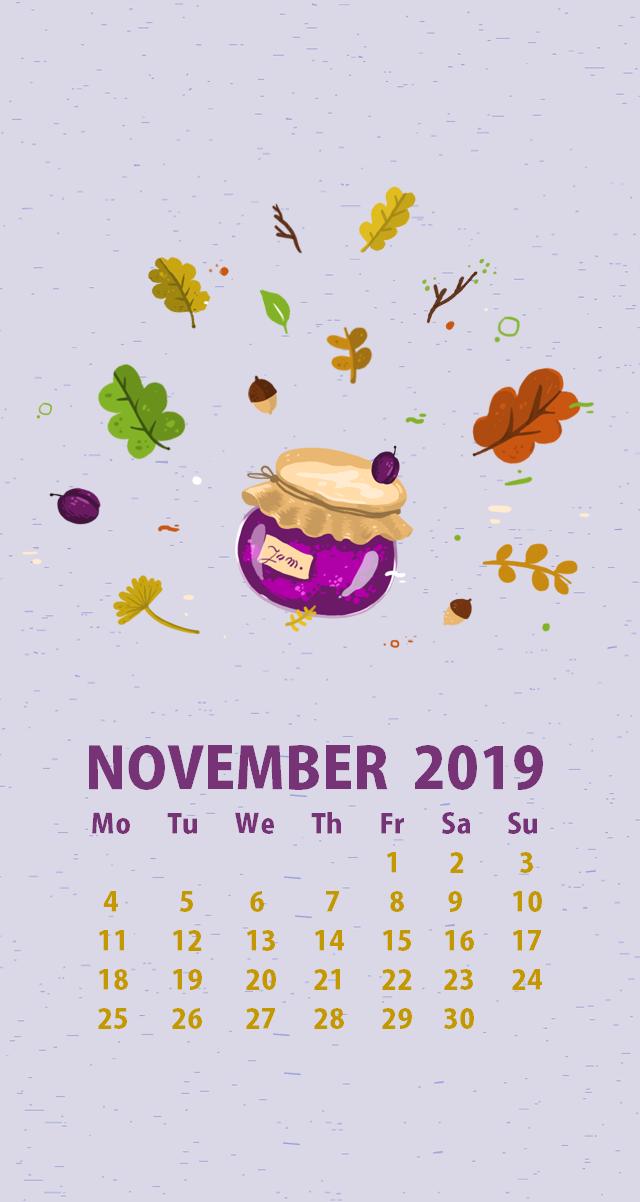 November 2019 iPhone Wallpaper