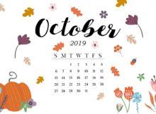 October 2019 Calendar HD Wallpaper