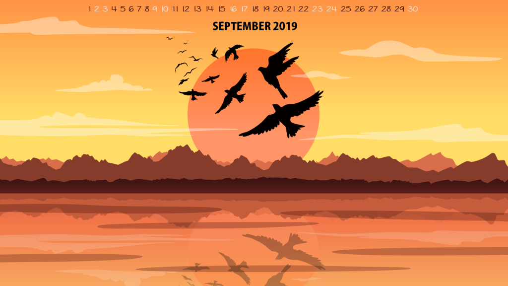 September 2019 Desktop Wallpaper