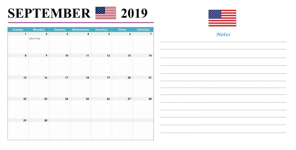 September 2019 United States Holidays