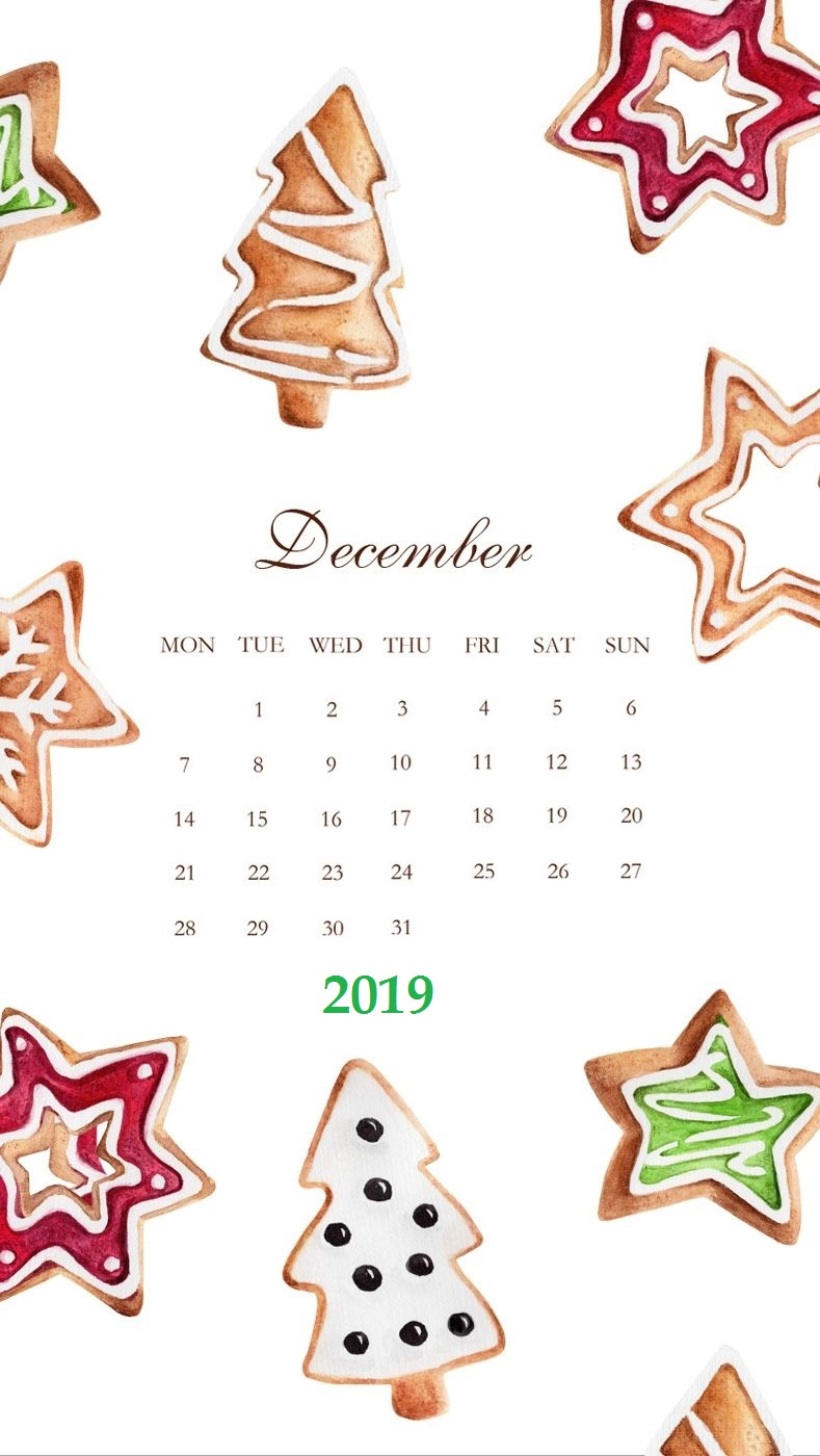 December 2019 iPhone Background Screensaver