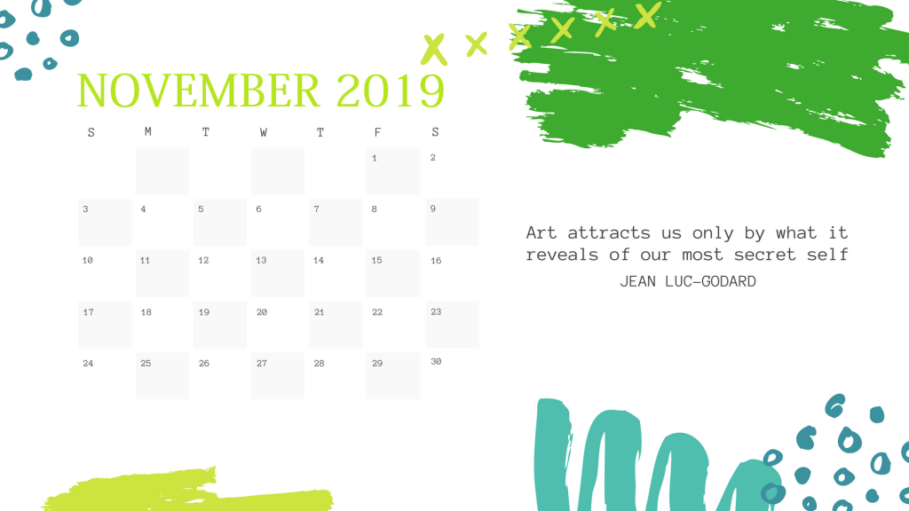Latest November 2019 Calendar