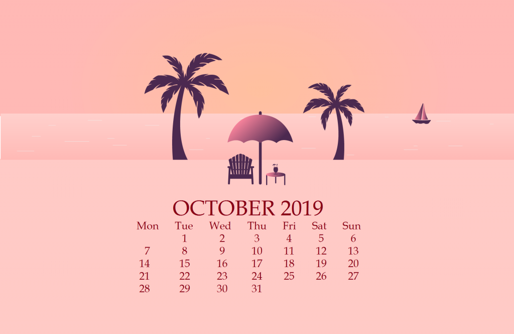 October 2019 Desktop Background Wallpaper