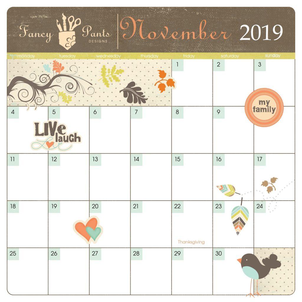 Unique November 2019 Calendar