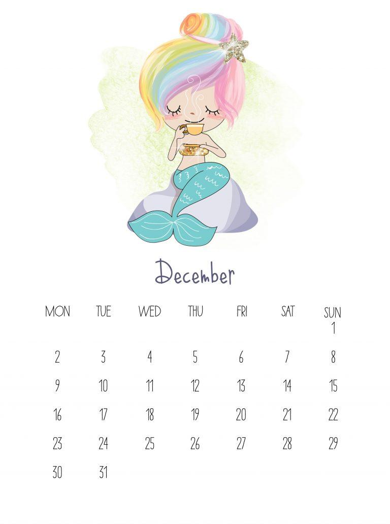 Best December 2019 Desk Calendar