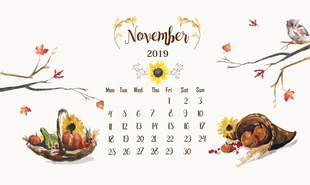 Cute November 2019 Desktop Wallpaper