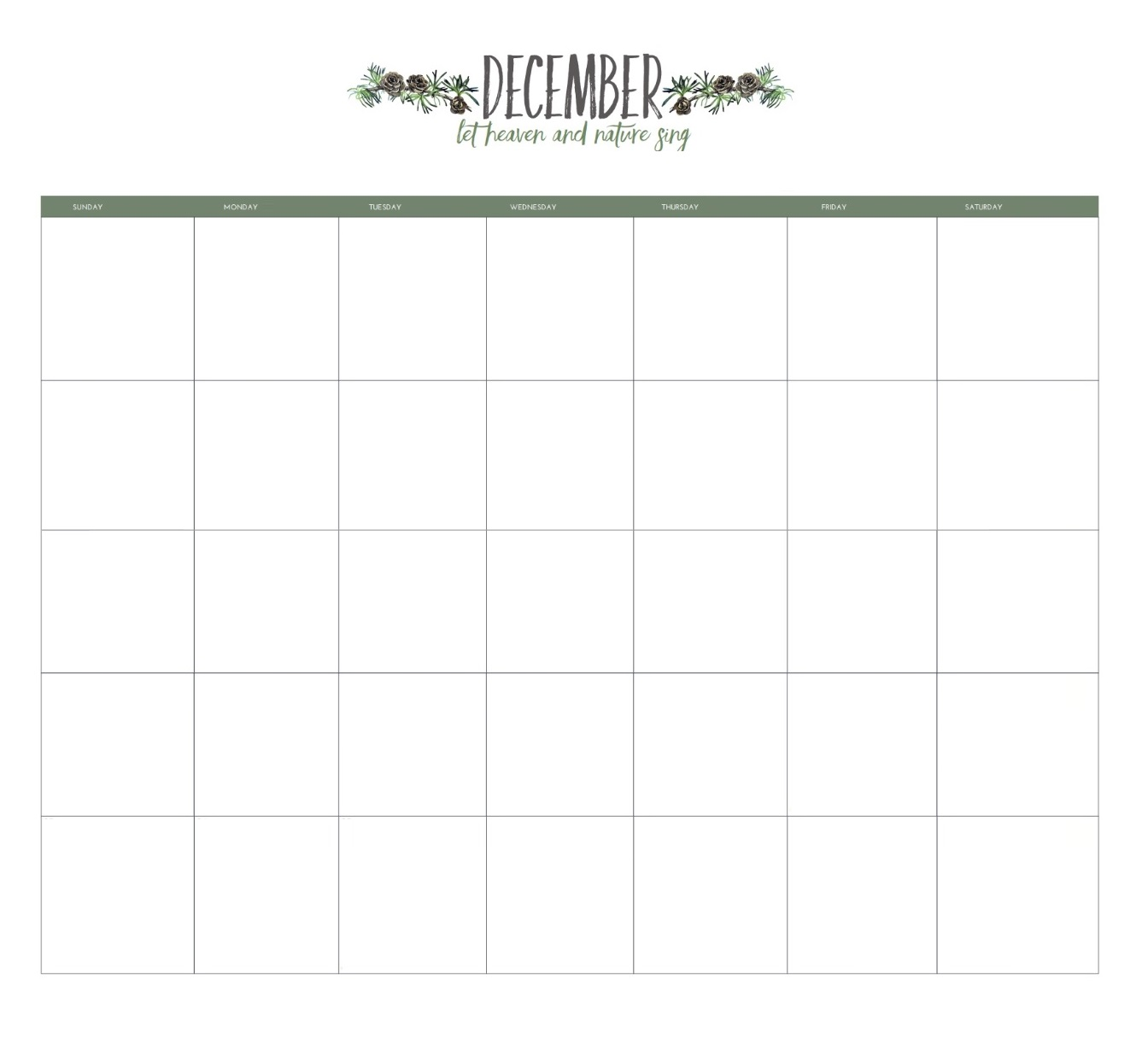 December 2019 Editable Monthly Planner