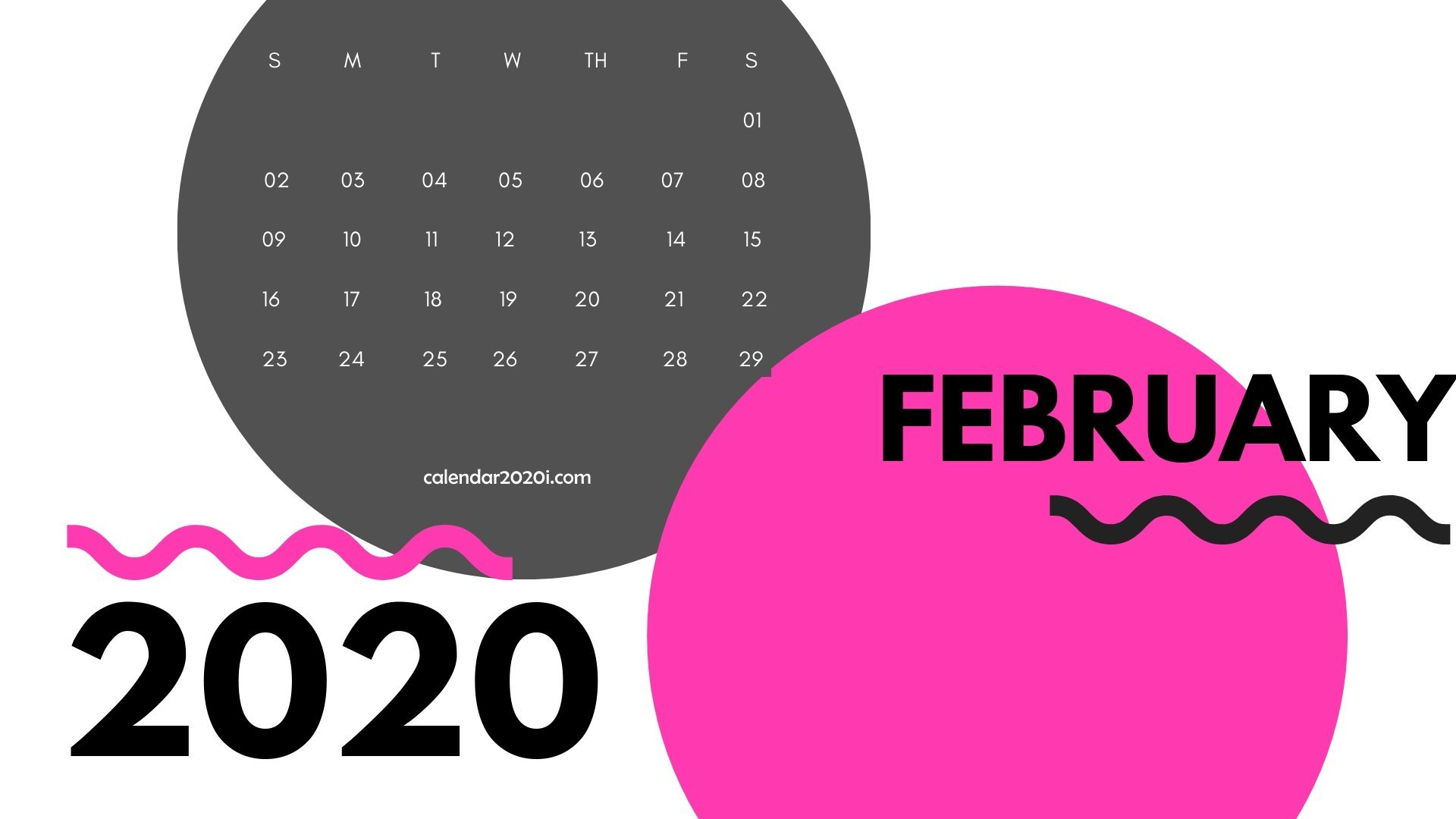 February 2020 Monthly Printable Calendar