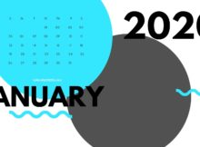 January 2020 Monthly Printable Calendar