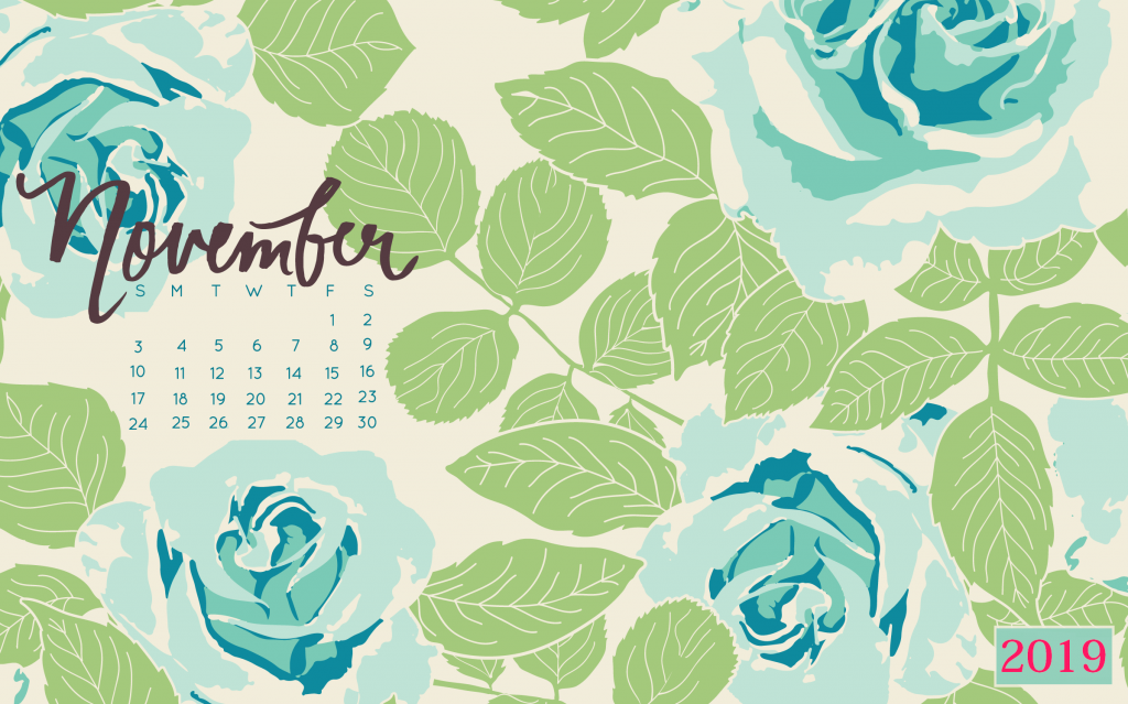 November 2019 Floral Desktop Wallpaper