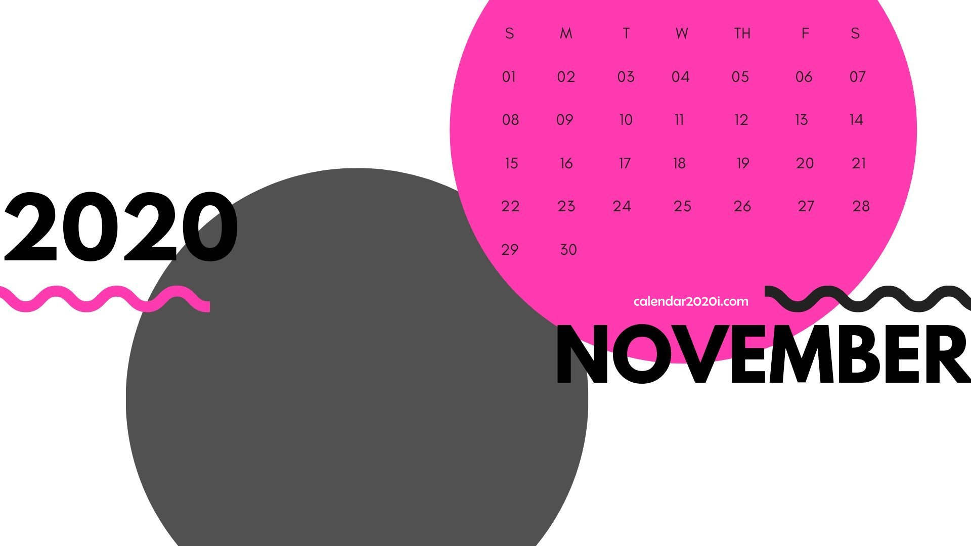 November 2020 Monthly Printable Calendar