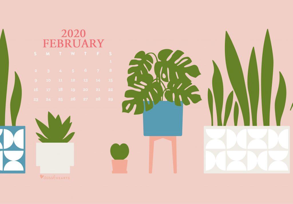Cute February 2020 Desktop Screensaver