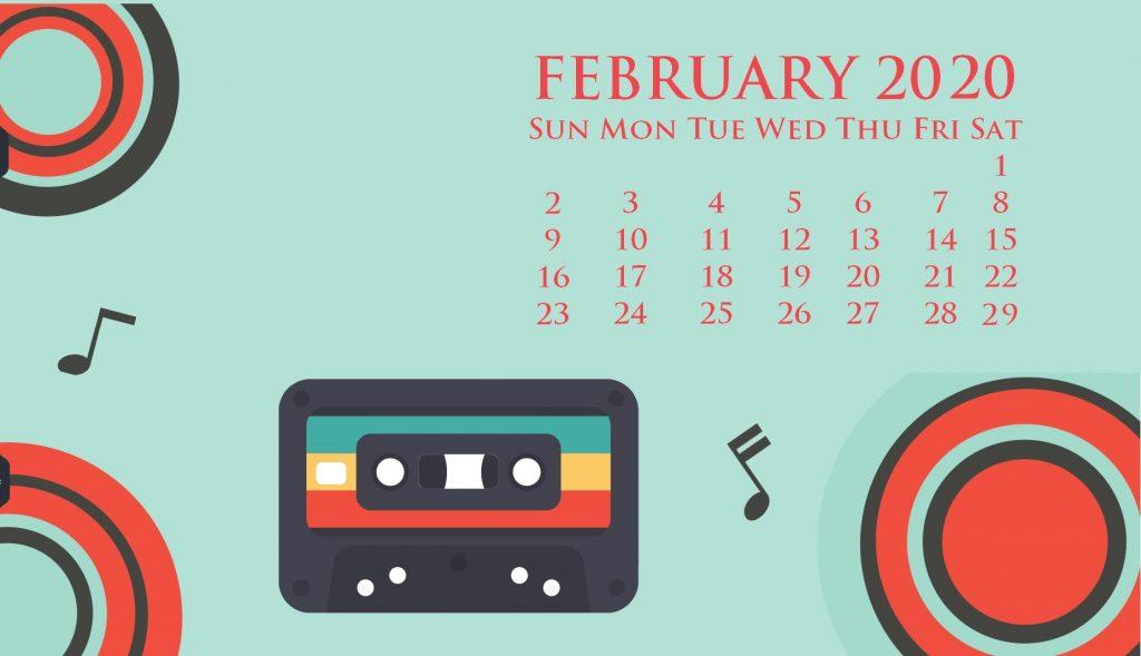 February 2020 Screensaver Wallpaper