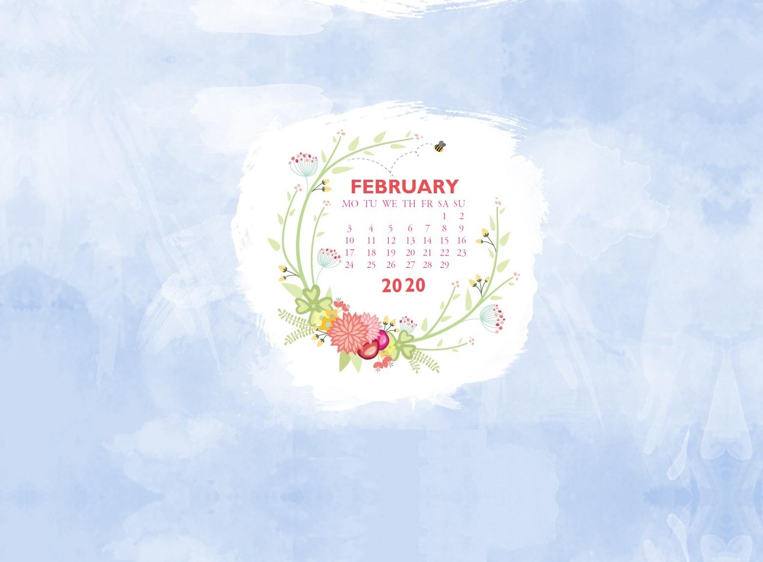 Floral February 2020 Desktop Wallpaper