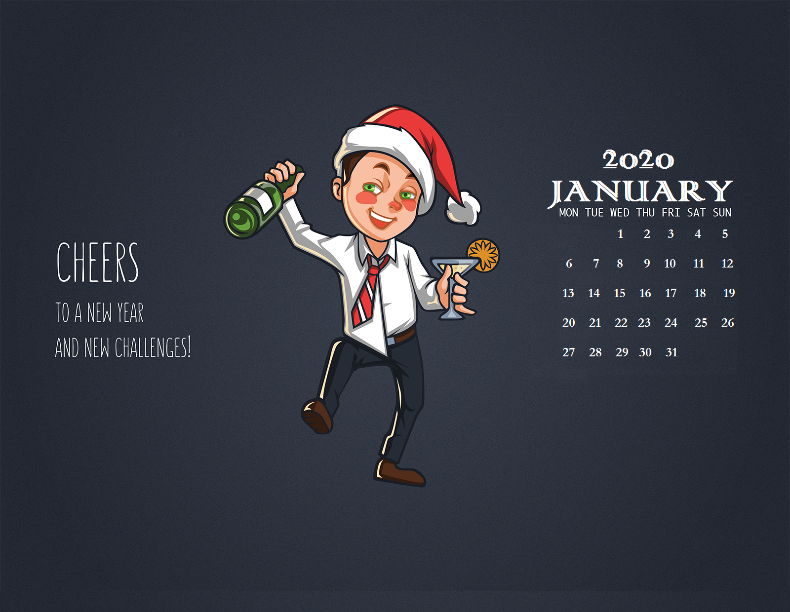 Happy New Year 2020 January Wallpaper