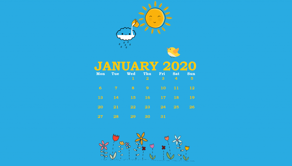 January 2020 Background Wallpaper