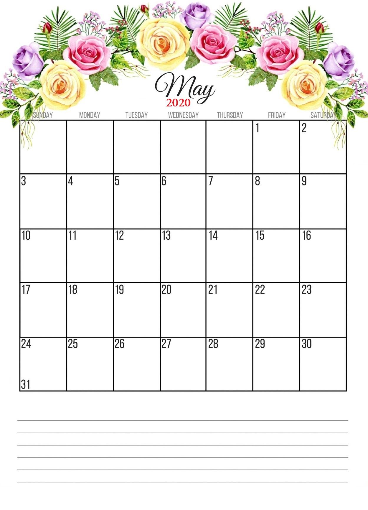 May 2020 Floral Calendar